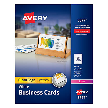 Avery Laser Clean Edge Two Side Printable Business Cards X - Card template free: office depot business card template