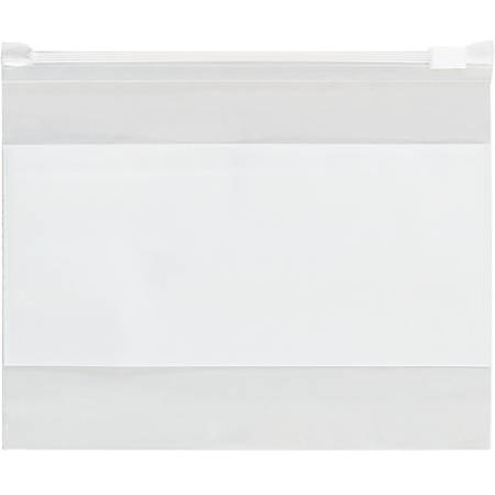 """Office Depot Brand 3 Mil Slide-Seal Reclosable White Block Poly Bags 4"""" x 6"""", Box of 100"""