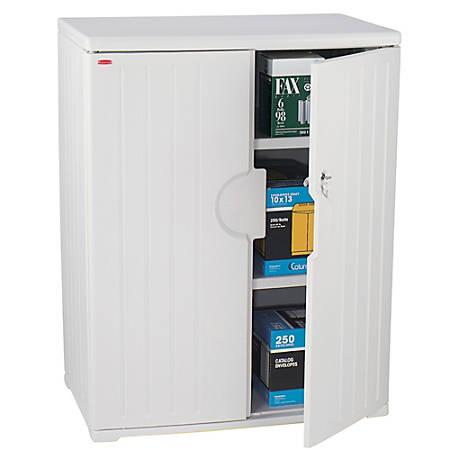 "Iceberg OfficeWorks™ Storage Cabinet, 46""H x 36""W, Platinum"