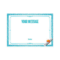 Flat Photo Greeting Card Graduation Scroll