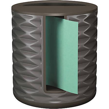 """Post-it® Pop-up Aqua Notes Vertical Dispenser - 3"""" x 3"""" Note - Dark Gray"""