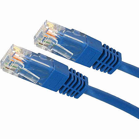 4XEM 100FT Cat5e Molded RJ45 UTP Network Patch Cable (Blue)
