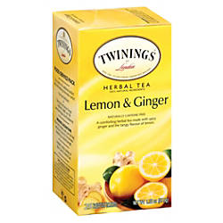 Twinings Lemon Ginger Herbal Decaffeinated Tea