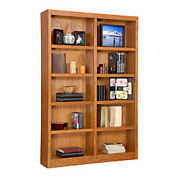 Concepts In Wood Double-Wide Bookcase, 10 Shelves, Dry Oak