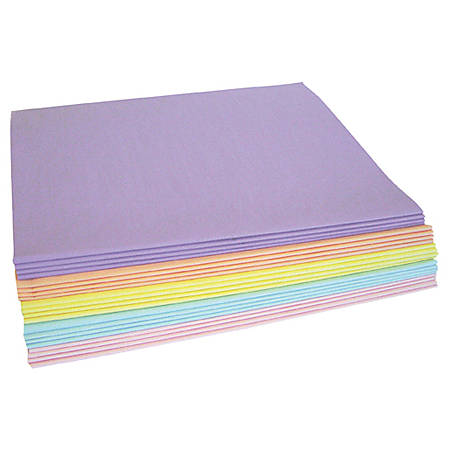 """Partners Brand 20"""" x 30"""" Pastel Tissue PaPer Assortment Pack, 480 Sheets"""
