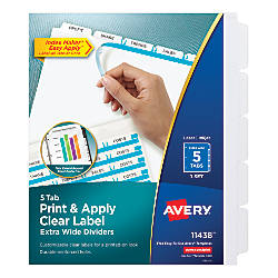 Avery Index Maker Extra Wide Tab