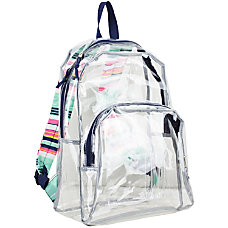 Eastsport Clear PVC Backpack Candy Stripe