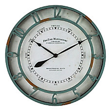 FirsTime Co Timeworn Aqua Wall Clock
