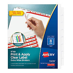 Avery 30percent Recycled Index Maker Extra
