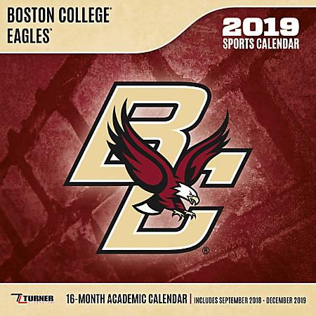 Boston Calendar January 2019 Turner Sports Monthly Wall Calendar 12 x 12 Boston College Eagles