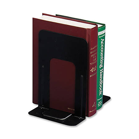 "OIC® Non-Skid Bookends, 9""H, Black"