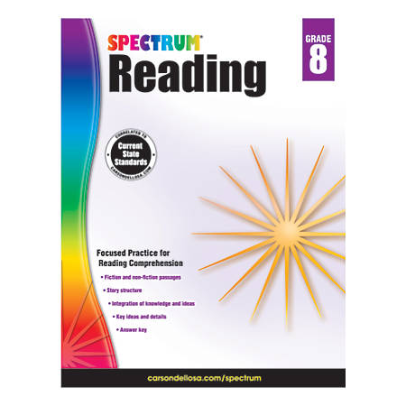 Carson-Dellosa Spectrum Reading Workbook, Grade 8