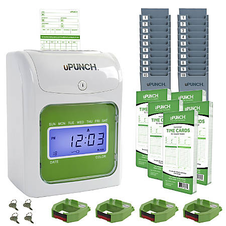 upunch ub1000 electronic punch card time - Time Card Punch