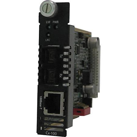 Perle C-100-M2SC2 Media Converter - 1 x Network (RJ-45) - 1 x SC Ports - 10/100Base-TX, 100Base-FX - Internal