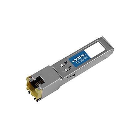 AddOn IBM 45W2813 Compatible TAA Compliant 10/100/1000Base-TX SFP Transceiver (Copper, 100m, RJ-45)