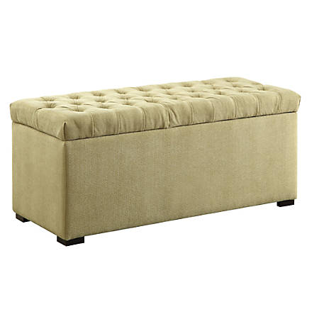 Office Star™ Ave Six Sahara Tufted Storage Bench, Basil