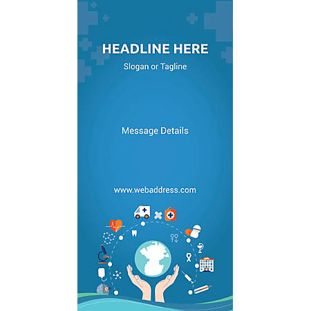 Custom Vertical Banner, Health Cycle