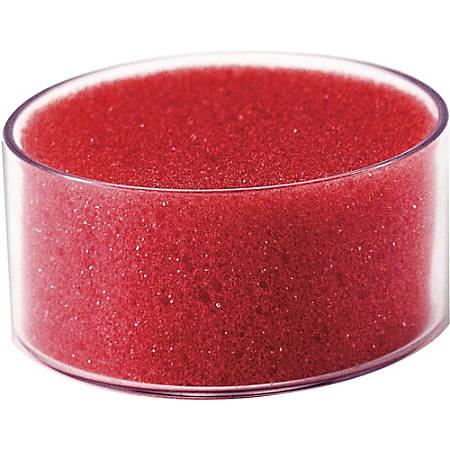 "OIC Sponge Cup Moistener - 3"" Diameter - 1Each - Polyurethane - Pink"
