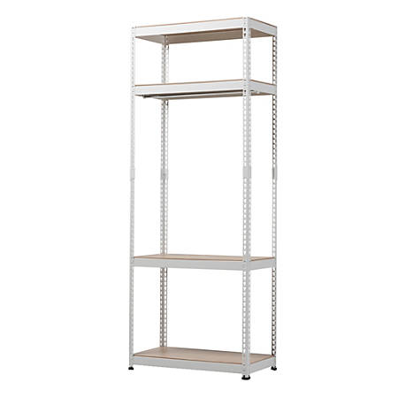 Baxton Studio Arne 4-Shelf Racking Organizer, White