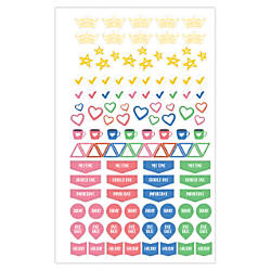 Blue Sky Teacher Stickers 5 x