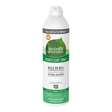 Seventh Generation Disinfectant Cleaner - Spray - 0.11 gal (13.90 fl oz) - Eucalyptus Spearmint & Thyme Scent - 1 Each - Clear