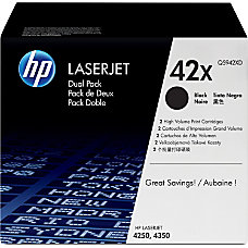 HP 42X Black Original Toner Cartridges