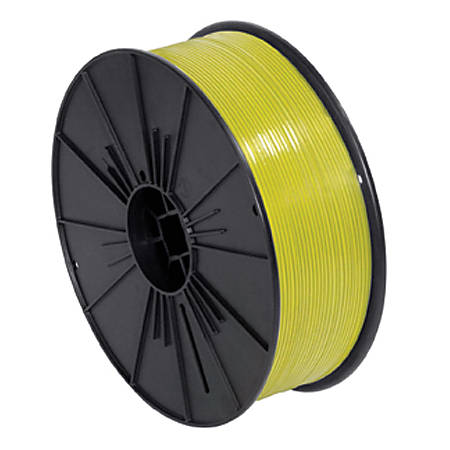 "Partners Brand Plastic Twist Tie Spool, 5/32"" x 7,000', Yellow"