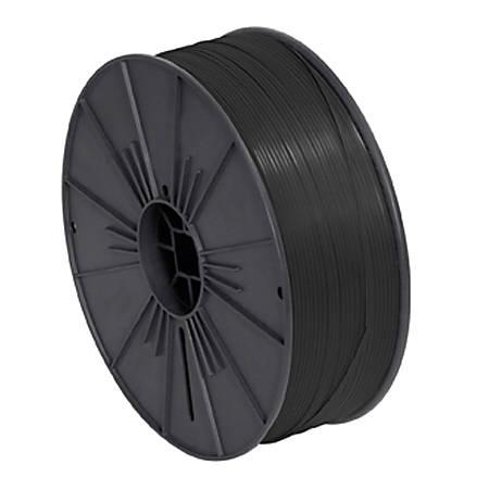 """Partners Brand Plastic Twist Tie Spool, 5/32"""" x 7,000', Black"""