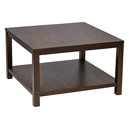 Ave Six Merge Coffee Table, Square, Espresso