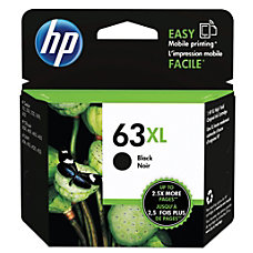 HP 63XL High Yield Black Original