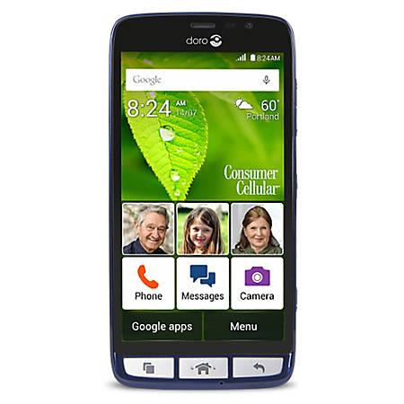 Doro 824 Senior-Friendly Cell Phone, Blue, PDN200002