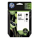 HP 64 Black Ink Cartridges Pack