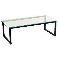 Flash Furniture Glass Coffee Table ClearBlack