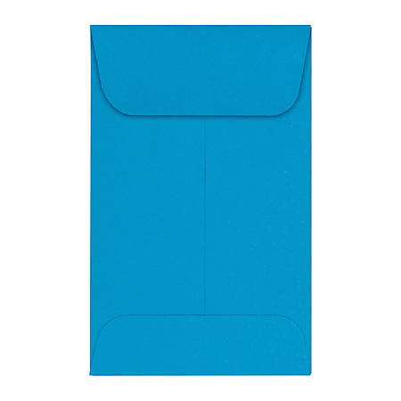 "LUX Coin Envelopes, #1, 2 1/4"" x 3 1/2"", Pool, Pack Of 1,000"