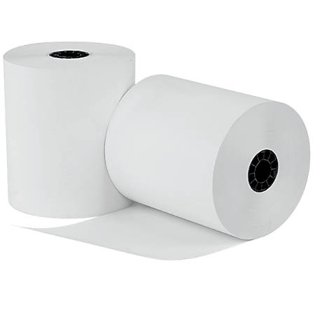 """uAccept™ POS Thermal Paper, 3 1/8"""" x 220', 1-Ply, White, Pack Of 12"""