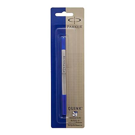 Parker® Rollerball Pen Refill, Medium Point, 0.7 mm, Blue