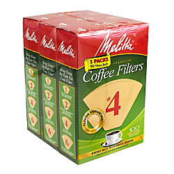 Melitta 4 Coffee Filters Brown 100