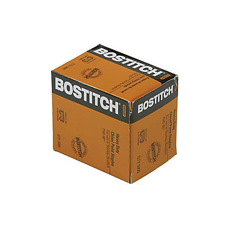 Bostitch PHD-60 Stapler Heavy Duty Premium Staples - Heavy Duty - Holds 60 Sheet(s) - Chisel Point - Silver - 5000 / Box