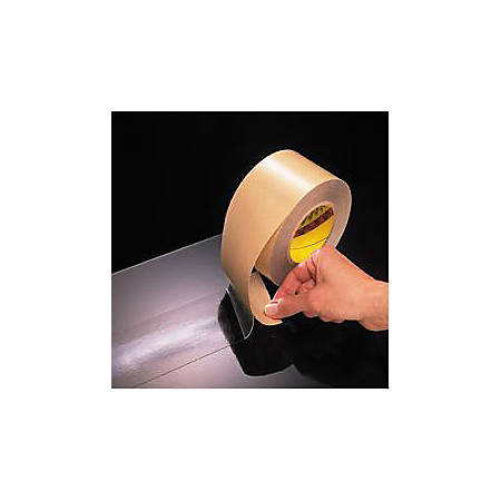 """3M® 465 Adhesive Transfer Tape- Hand Rolls, 3/4"""" x 60 Yd., Clear, Case Of 6"""