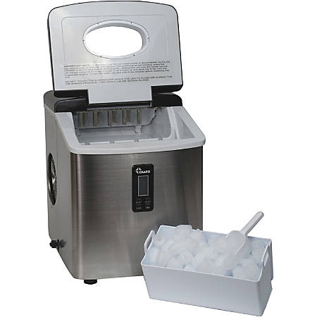 Chard Stainless Steel Ice Maker - 35 lb Per Day - 2 lb - Stainless Steel - Stainless Steel