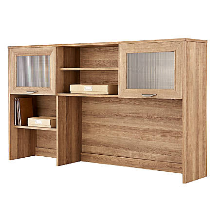 Realspace® Magellan Hutch For Corner/L-Desk, Blonde Ash