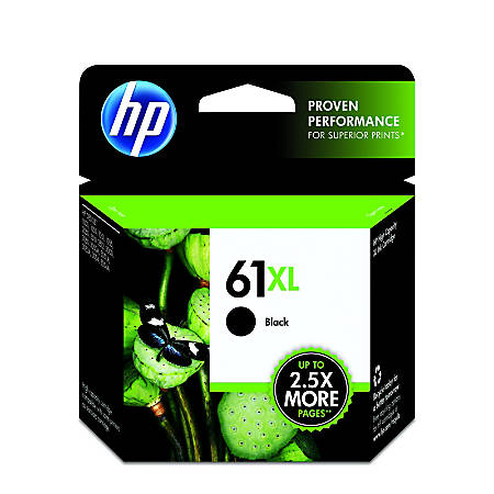 HP 61XL High Yield Original Ink Cartridge, Black (CH563WN)