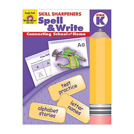 Evan-Moor® Skill Sharpeners Spell & Write, Grade PreK