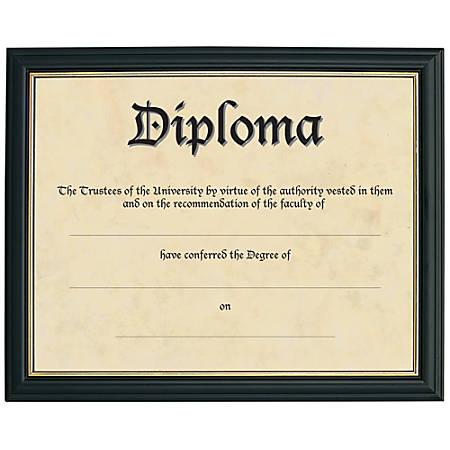 """Deluxe Document Frame, 8 1/2"""" x 11"""", Black"""