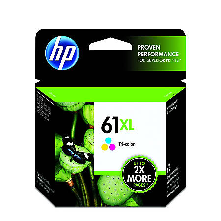 HP 61XL High Yield Tri-color Original Ink Cartridge (CH564WN)