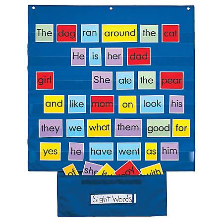 "Playmonster Mid-Sized Pocket Chart, 28"" x 28"", Blue, Pre-K - Grade 8"
