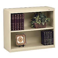 Tennsco Metal 2 Shelf Bookcase Putty