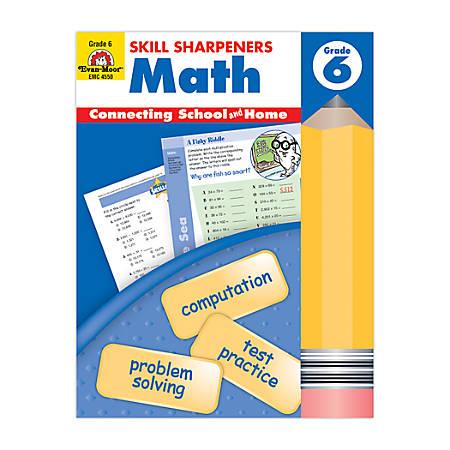 Evan-Moor® Skill Sharpeners Math, Grade 6