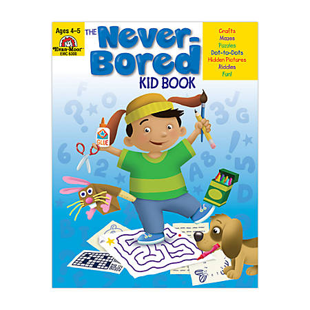 Evan-Moor® Never-Bored Kid Book, Ages 4-5