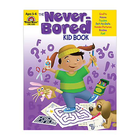 Evan-Moor® Never-Bored Kid Book, Ages 5-6